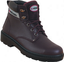 Safetoes S3002 Steel Midsole Brown Cowhide Leather Derby Boot